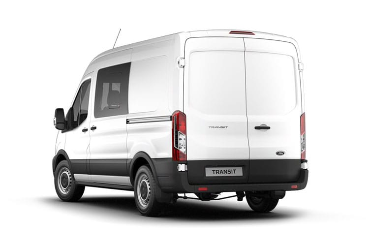 Ford Transit 350 L3 2.0 EcoBlue FWD 130PS Leader Crew Van Medium Roof Manual [Start Stop] [DCiV] back view